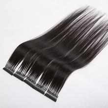 10pcs/lot 40-60cm 100% Human Hair extension Natural 6D Hair Extension machine tool Hair-Connector Extensions set wholesale price