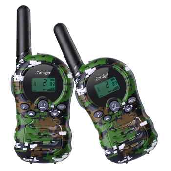 Caroger 22/8 Channel 2pcs Walkie Talkies FRS/GMRS 462/467/446 MHZ Two Way Radio 2 Miles Range Handheld Interphone camouflage - DISCOUNT ITEM  25% OFF All Category