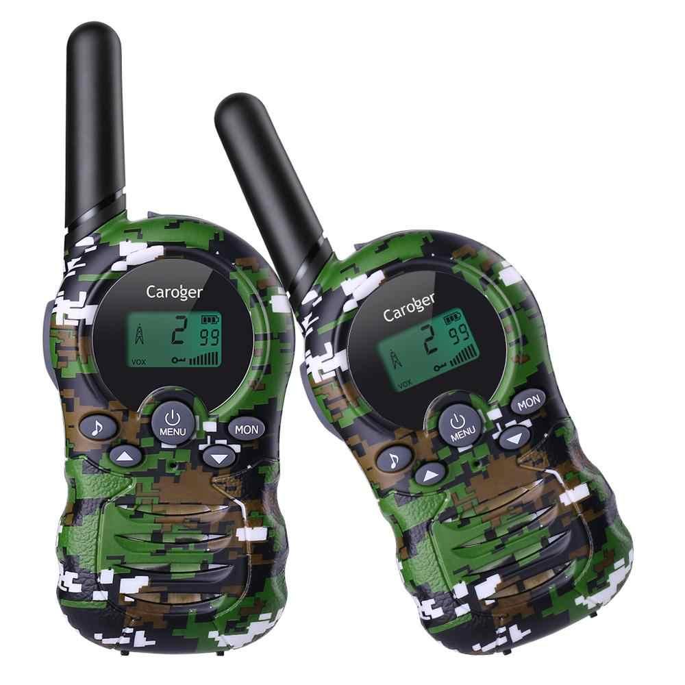 Caroger 22/8 canaux 2 pièces talkies-walkie FRS/GMRS 462/467/446 MHZ Radio bidirectionnelle 2 Miles gamme Interphone tenu dans la main camouflage