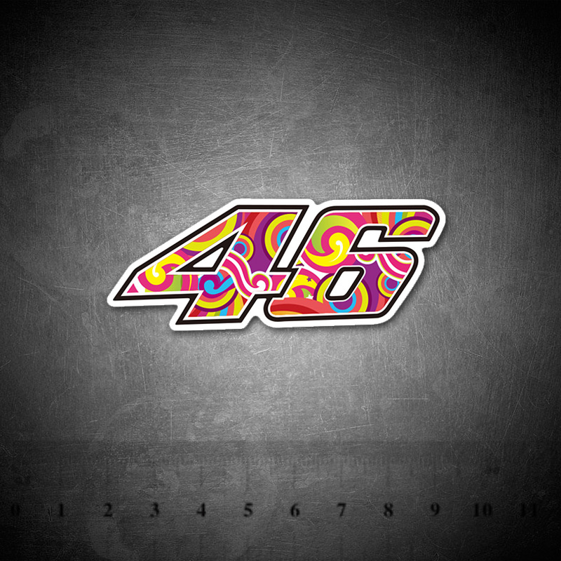Rossi 46 Stickers DIY Creative Graffiti Sticker For Skateboard Luggage Laptop Guitar Fridge Doodle Decal Moto Racing