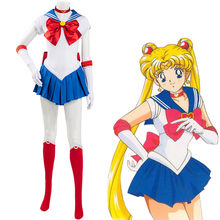 MengDuoLe Sailor Moon Cosplay Tsukino Usagi Cosplay Costume Clothes Uniform Outfits Halloween Carnival Suit For Girls