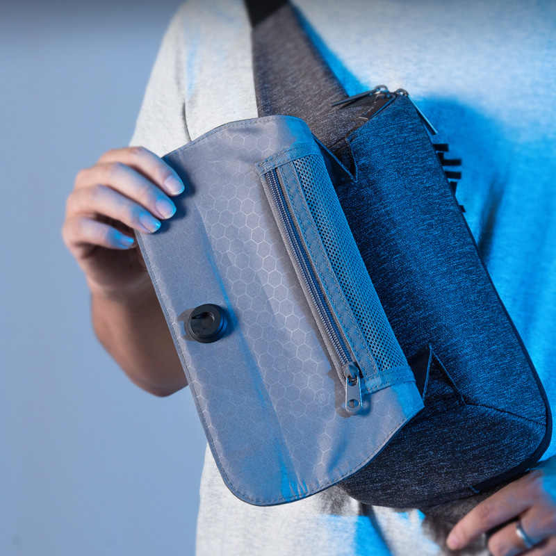 Hanke nowy projekt mężczyźni Sling torba na klatkę piersiową Crossbody torby Messenger wodoodporny krzyż torba na jedno ramię Chic H6883