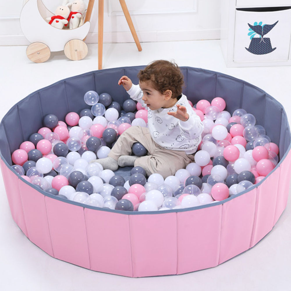 Baby Ball Pool Foldable Infant Ball Pits Ball Pool Ocean Balls For Dry Pool Washable Playpen Toy Folding Fence Kids Toys