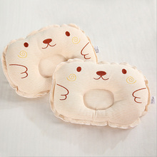 Organic Cotton Baby Pillow Newborn Sleep Positioner Safe Anti Roll Infant Head Preventing Flat