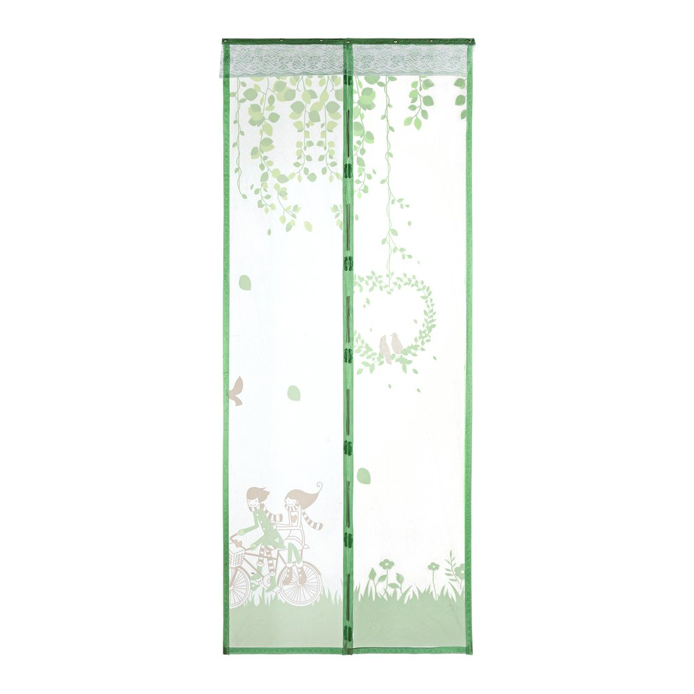 Magnetic Fly Bug Anti Insect Mosquito Screen Clear Mesh Self-closed Soft Yarn Door Tulle For Curtain Balcony Offices Green