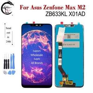 "Image 1 - 6.3 ""LCD ใหม่สำหรับ Asus ZenFone MAX M2 ZB633KL X01AD LCD จอแสดงผล TOUCH SENSOR Digitizer ASSEMBLY ZB633 ZB633KL จอแสดงผล"