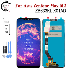 "Image 1 - 6.3 ""חדש LCD עבור Asus Zenfone מקס M2 ZB633KL X01AD LCD תצוגת מסך מגע חיישן Digitizer עצרת ZB633 ZB633KL תצוגה"