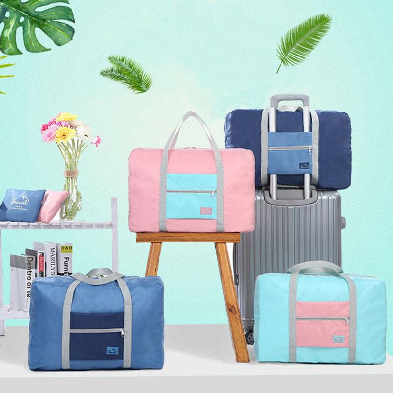 Large Capacity Waterproof Foldable Big Travel Storage Luggage Carry On Organizer Hand Shoulder Duffle Bag