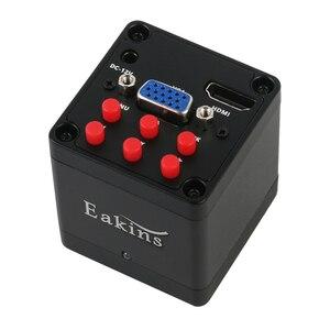 Image 5 - 1080p digital hdmi vga microscópio industrial conjuntos de câmera 130x c montagem lente + led anel luz solda telefone pcb ic reparação ferramentas