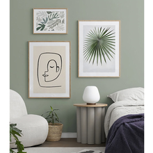 Nordic Canvas Poster Abstract Line Sketch Posters And Prints Green Plant Leaves Face Wall Art Picture Living Room Home Decor