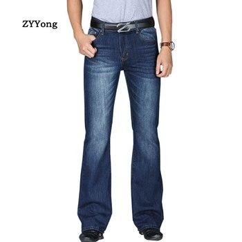 Jeans Men 2020 New Mens High Waist Big Flared Boot Cut Leg Loose Fit Male Designer Classic Denim Pants 27-40