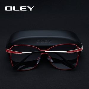 Image 5 - OLEY Brand Designer Big Frame Sunglasses Butterfly Shades For Women Fashion Quality Female Polarized glasses UV400 Y7215