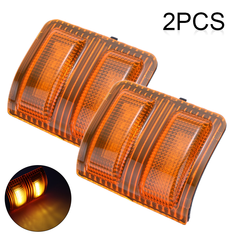 2x Side Tow Mirror LED Turn Light Amber For FORD F250 F350 F450 F550 F650 08-15