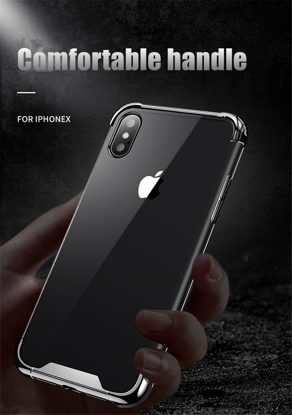 H17a35d645f8647daa24391ef2116a3c9r - USLION Shockproof Armor Clear Case For iPhone 11 Pro Max XS Max XR X 8 7 6 6s Plus 5 5s SE Transparent Phone Cases Airbag Cover