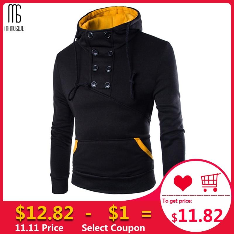 Manoswe Winter Fashion Men Hoodies Sweatshirt Casual Fleece Jacket Male Pullover Coat Streetwear Baseball Sports Pullover