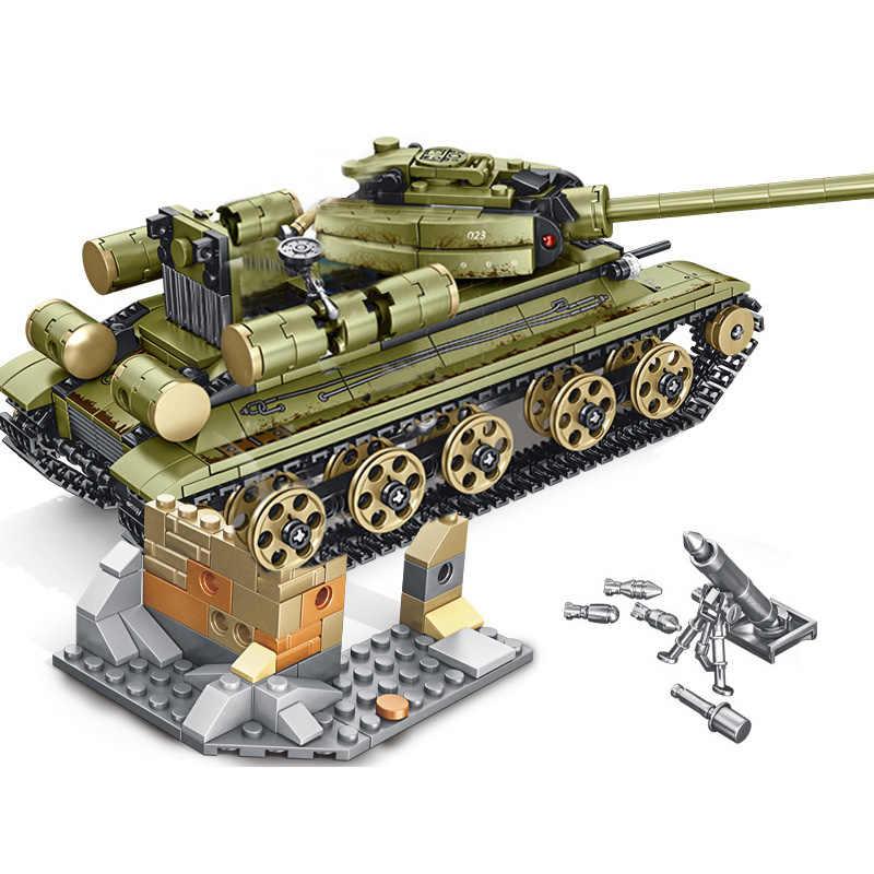 SEMBO 683 قطعة العسكرية السوفياتي الصلب الإمبراطورية خزان مركبة اللبنات متوافق الجيش WW2 جنود الشرطة سلاح الطوب اللعب