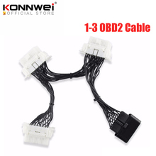 OBD2 OBDII OBD 2 16Pin OBD2 16 Pin de Cable para ELM327 1 3 extensión de macho a hembra adaptador de Cable de escáner de diagnóstico conector