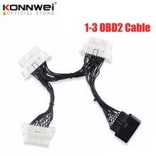 OBD2 OBDII OBD 2 16Pin OBD2 16 Pin için otomatik kablo ELM327 1 3 erkek kadın uzatma kablosu adaptör teşhis tarayıcı konektörü