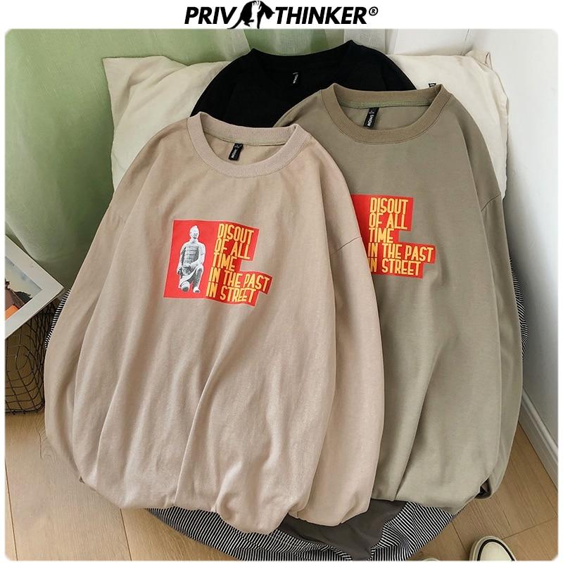 Privathinker Men Hip Hop Print Summer T Shirts Male 2020 Streetwear Casual Long Sleeve Tees Men's Korean Oversize 5XL T-shirts