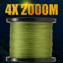 fishing braided 2000M super quality thread fishing rope sea ice fishing 4 Strands wire line weaves 6-100LB 0.1-0.55mm tackle