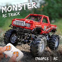RC Technic MOC 26278 Monsters Truck With Automated Differential Lock bricks SUV Off road Car building blocks toys for kids gfts