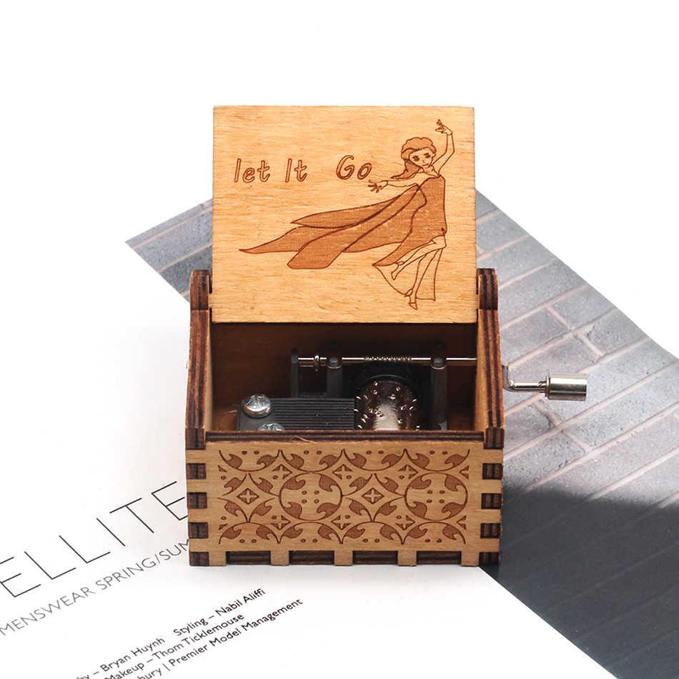 Nova caixa de música rainha amor pai e amor mam meu sol tema música antigo esculpida manivela de madeira mãe e pai presentes presente de aniversário