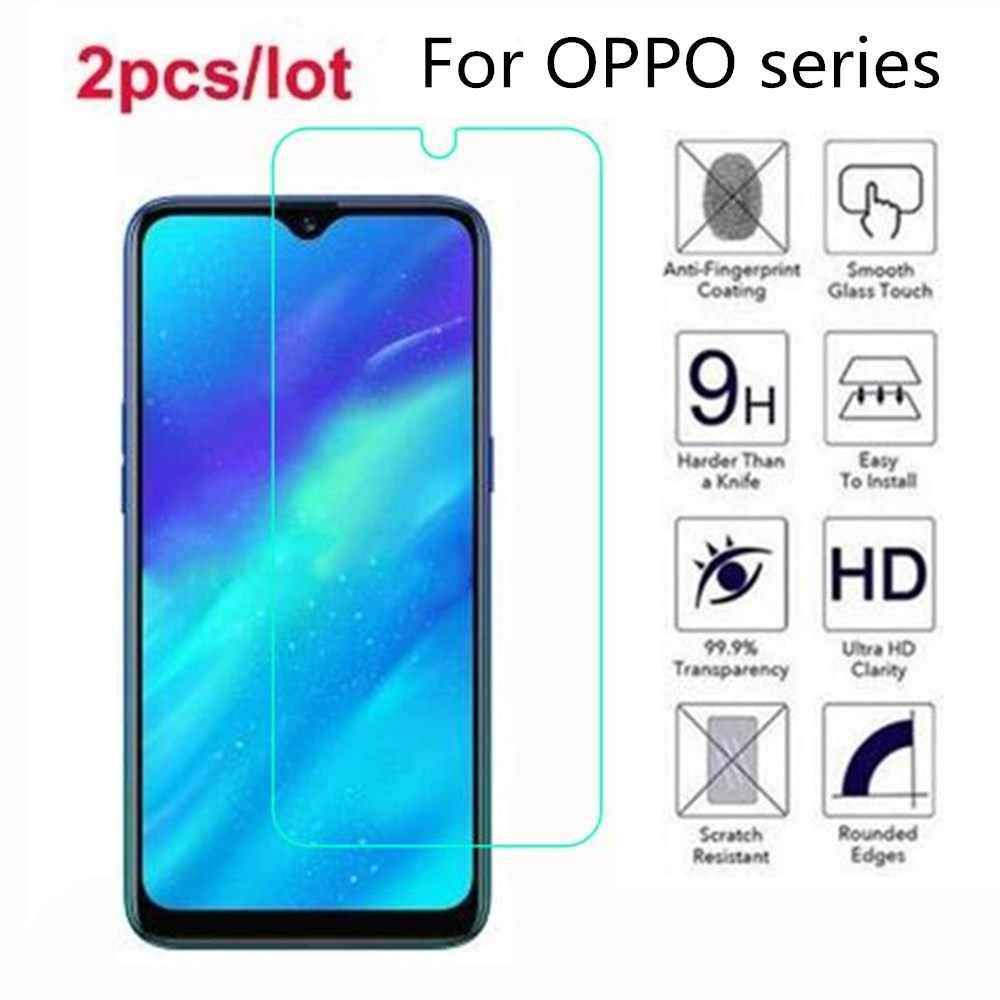 Tempered Glass For OPPO Reno 10x Zoom 2.5D Premium Screen Protector Film On OPPO Realme 3 5 Pro 3i C2 Q X2 XT X Lite