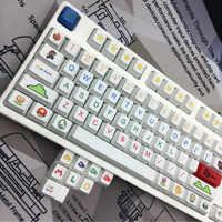 Mario personalité PBT Sublimation Keycap Original 112 touches Standard mécanique clavier keycaps spécial 6.25