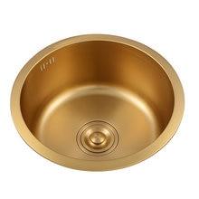Золотая кухонная раковина из нержавеющей стали 304 маленькая