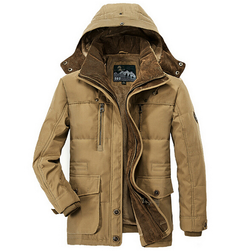 New Minus 40 Degrees Winter Jacket Men Thicken Warm Cotton-Padded Jackets Men's Hooded Windbreaker Parka Plus Size Jacket Men