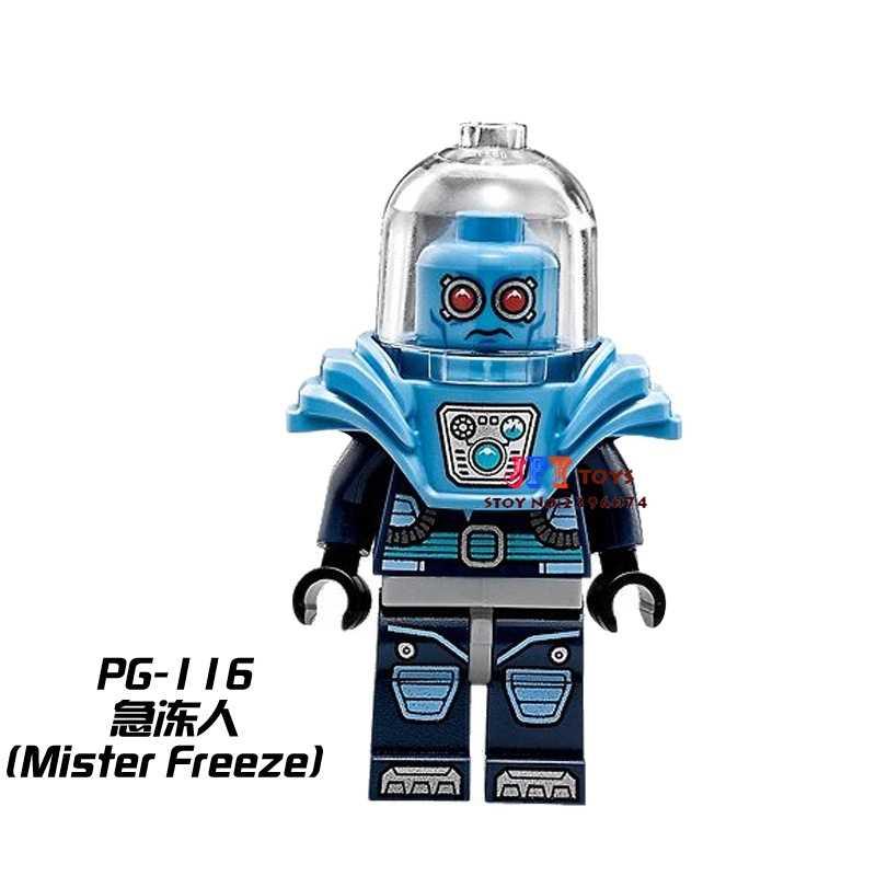 Single superhero Mister Freeze Dr Victor Fries building blocks model Gift bricks toys for children action figures