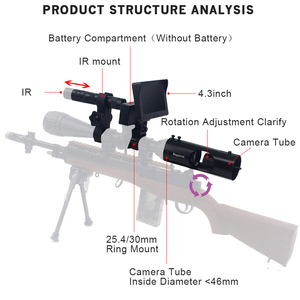 Image 3 - حار جديد تلسكوب للرؤية الليلية في الهواء الطلق الصيد البصرية البصر مناظير مع LCD و IR مصباح يدوي لا تشمل نطاق بندقية