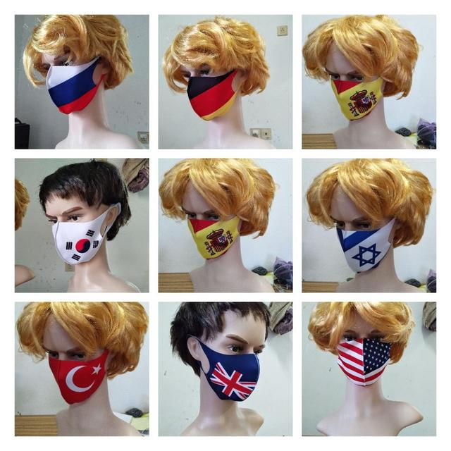 Anti Virus Mouth Mask USA National Flag Splash-proof Face Shield Protective Face Covering Mask Safety Protection anti Saliva