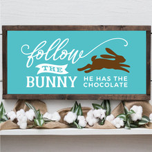 Chocolate Easter Bunny Canvas Art Poster Prints Rustic Sign Modern Farmhouse Wall Art Decoration Canvas Painting Picture Decor(China)