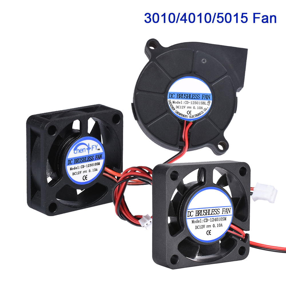 3010 <font><b>4010</b></font> 5015 Cooling Fan <font><b>Blower</b></font> Brushless Fan 5V 12V 24V 3D Printer Parts For V6 Extruder Hotend J-head Turbo RepRap Bowden image