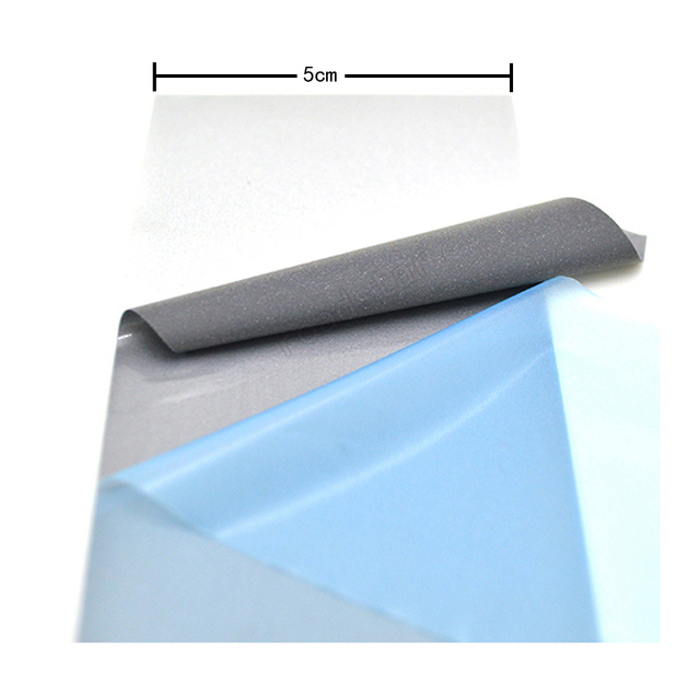 High Visibility Safety Heat-transfer Vinyl Film DIY Silver Reflective Iron on Fabric Clothing Tape 3