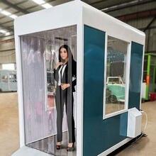 Esterilizador de puerta móvil, túnel desinfectante para el cuerpo, cabina de prevención de desinfección epidémica