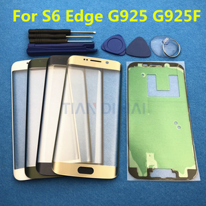 Image 5 - Yedek Harici Cam Samsung Galaxy S7 Kenar G935 S6 Kenar G925F dokunmatik LCD ekran Ekran Ön Cam Dış Lens