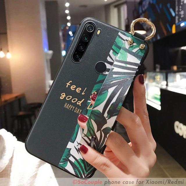 SoCouple Wrist Strap Case For Redmi Note 8 Pro 5 6 7 9 Pro K20 Pro Case For Xiaomi 8 9 CC9 A3 9 Lite 9t TPU Phone Holder Case