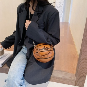 Weysfor 2020 nowa osobowość kobieta skórzana piłka do koszykówki torba piłka torebki dla nastolatków damskie torebki na ramię Crossbody torebka z łańcuszkiem
