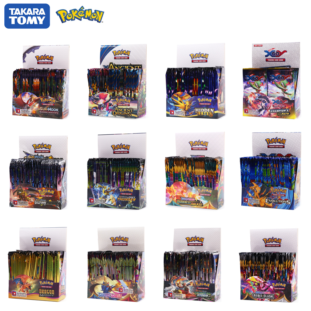 POKEMON Cards Hidden Fates GX EX VMAX Box English Collectible Pocket Monster Game Cards Board Game Battle Carte Trading Game