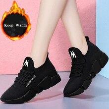New Platform Sneakers Women Shoes Mesh Vulcanized
