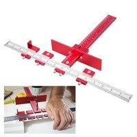 Plantilla de gabinete de aleación de lauminio, herramienta Localizadora de perforación ajustable, guía de perforación, espiga de perforación de madera para instalación