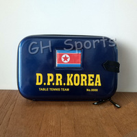 YINHE Galaxy D.P.R Korea National Table Tennis Team (YINHE Sponsored, Kim Song I) Hard Cover Table Tennis Bag Ping Pong Case