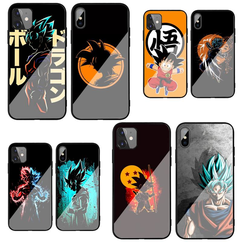 Anime Dragon DBZ Balls Phone Case For Iphone 12 11 Pro MAX XR X 7 8Plus SE2020 DIY Shockproof Glass Soft Silicone Edge