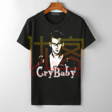 Cry bébé Johnny Depp John Waters rétro film t-shirt marque coton cou de haute qualité best-seller t-shirt(China)