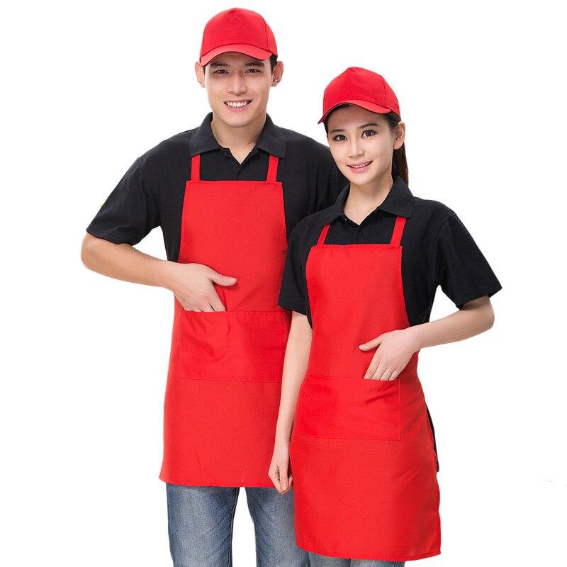 2020 New Fashion Adjustable Work Apron Cooking Kitchen Apron  Women Man Unisex Waiter Cafe Bib Wear