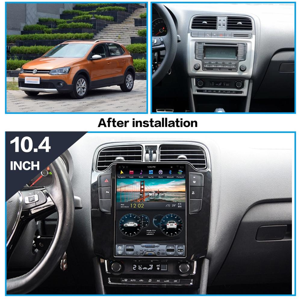 AOTSR Tesla Android 9 Car Player Autoradio For Volkswagen VW Polo Sedan 2012 - 2019 GPS Navigation DSP Central Multimidia Player image