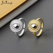 Bohemian Fashion Round Adjustable Finger Rings for Women Simple Design Geometric Wedding Jewelry Ring Girls Gift