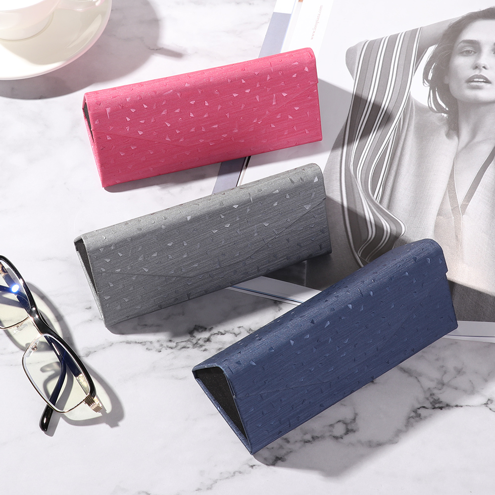 Fashion Portable Folding Glasses Box Classic Strong Magnet Waterproof PU Reading Glasses Eyewear Protector Sunglasses Case Gift
